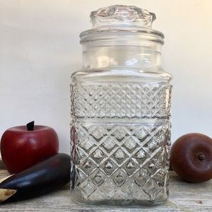 Anchor Hocking Wexford Glass Flour Canister Lid